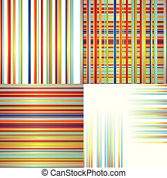 set of vector patterns with color lines