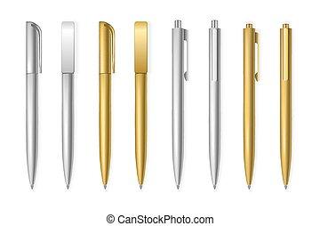 Set of vector pens.