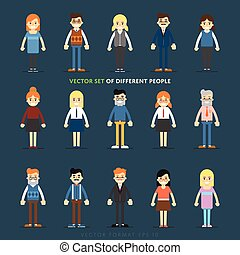 Set of vector people