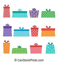 Set of vector presents
