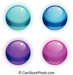 Set of vector Realistic Bubbles