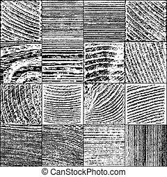 Set of Vector Realistic Wooden Texture.