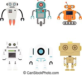 Set of vector robots.