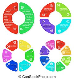 Set of vector round infographic