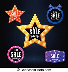 Set of Vector sale banner and emblem