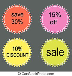 Set of  vector sale labels.