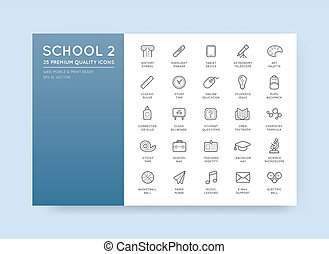 Set of Vector School Icons Illustration can be used as Logo ...