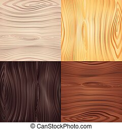 Set of vector seamless wood texture