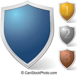 Set of vector shields