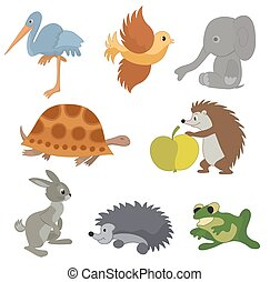 set of vector small animals