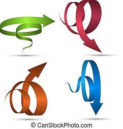 Set of Vector Spiral Arrows