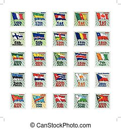 Set of vector stamps