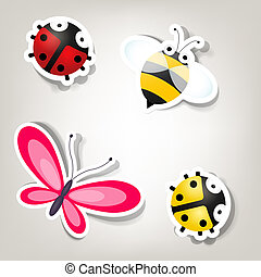 set of vector stickers