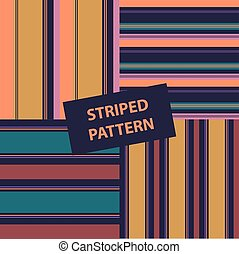 Set of vector striped pattern. Illustration with gorizontal and