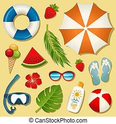 Set of vector summer elements