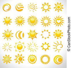 set of vector suns