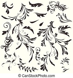Set of vector swirls for design
