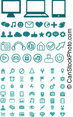 Set of vector technology icons for