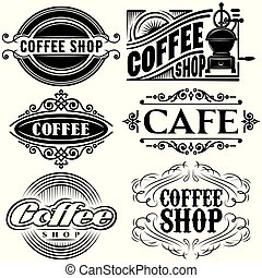 set of vector templates in different retro styles for...
