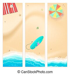 Set of vector travel banners