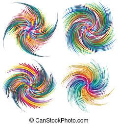Set of vector twirls