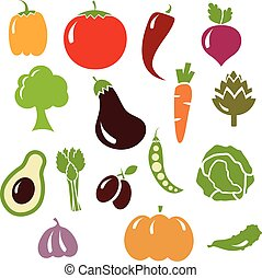 Set of vector vegetables