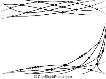 set of vector vignette