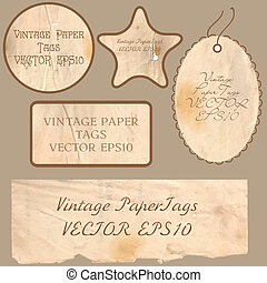 Set of vector vintage cards