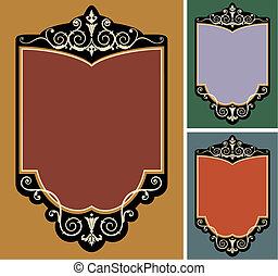 Set of vector vintage frames