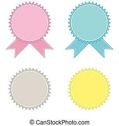 Set of vector vintage labels and emblems.