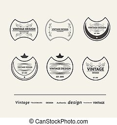 Set of vector vintage posters. beautiful design
