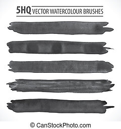 Set of vector watercolor brushes - Set of watercolor...