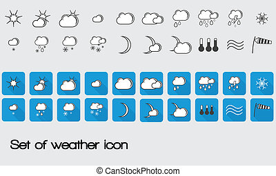 set of vector weather icon for web