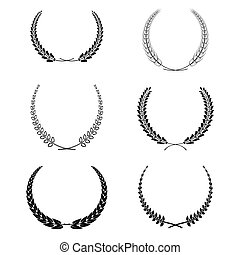 set of vector wreath garland isolated on white