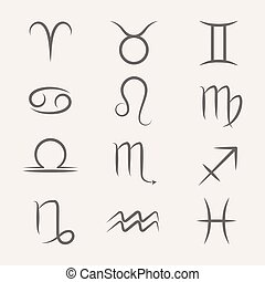 Set of vector Zodiac signs
