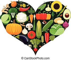 Set of vegetable icons.