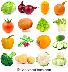 set of vegetable, on a white background