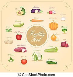 Set of vegetables vector illustrati