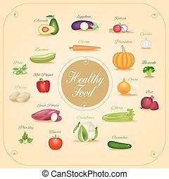 Set of vegetables vector illustrati
