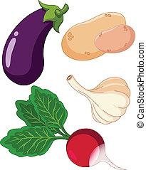 Set of vegetables3 - The  colorful set of vegetables