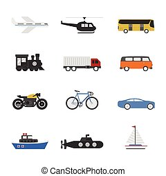 vehicle - set of vehicle icon on white background