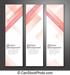 Set of vertical abstract colorful banner stand background with copy space