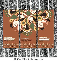 Set of vertical banners, flyers with mandala