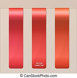 Set of vertical banners or bookmarks