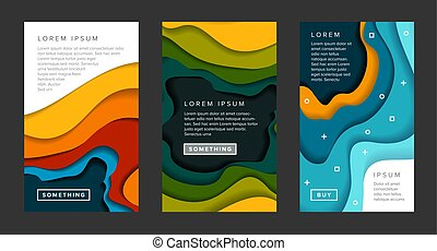Set of vertical banners templates