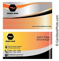 Set of vertical business card