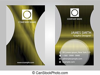 Set of Vertical Business Cards