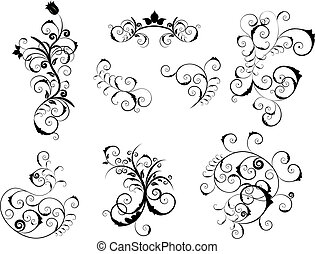 set of victorian elements - Set of different vector elements...