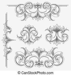 Victorian Style Decorations - Set of Victorian Style ...