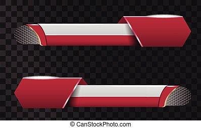lower third banner bar screen broadcast star lower third banner bar